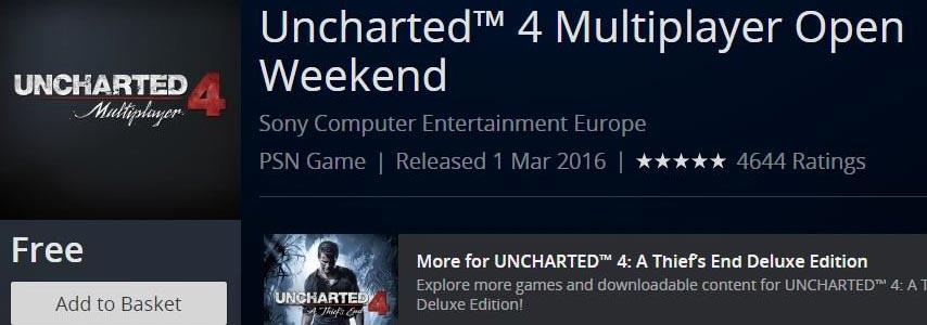 Open beta do multiplayer de Uncharted 4